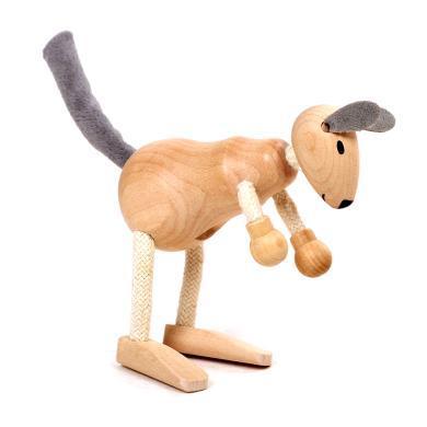 maxsun环保?#30340;?#21160;物玩偶仿真关节动物模型儿童木制玩具家居装饰
