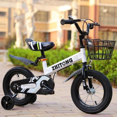 智童兒童自行車男孩12/14/16寸2-9歲寶寶自行車童車男女小孩單車 時尚款