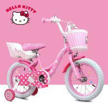 儿童自行车女孩凯蒂猫12/14/16寸2-3-6岁车女童单车宝宝小孩童车 KT200