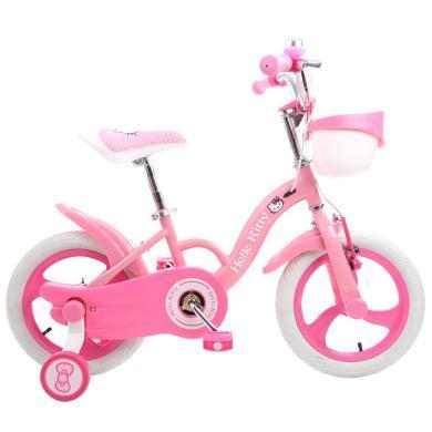 奥特王 儿童自行车女女童凯蒂猫Hello Kitty 单车12/14/16寸2-3-6岁小孩幼儿婴儿脚踏车公主款童车