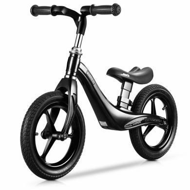 英莱儿 儿童自行车滑步车男女平衡车滑行车平衡车无脚蹬自行车小孩宝宝学步车 豪华款炫酷黑+减震轮胎rtzxc25