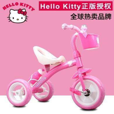 奥特王 凯蒂猫儿童三轮车手推车1-2-3-6岁宝宝脚踏车童车