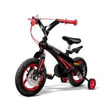 POUCH 帛琦 儿童男女通用自行车儿童山地自行车2-4岁轻便安全B01 黑红色