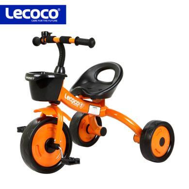 lecoco乐卡儿童三轮车脚踏车 宝宝玩具孩子童车2-5岁自行车免充气