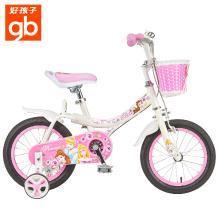 好孩子(gb)兒童自行車女孩單車16寸寶寶腳踏車女童車公主款 粉色JG1688-QX-C-Q109W