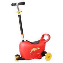 POUCH 帛琦 儿童滑板车可做可站两用溜溜车闪光滑轮滑板车3-5岁滑板车LB1502