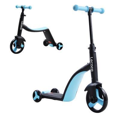 lecoco乐卡儿童滑板车3轮溜溜车3-6岁可坐三合一多功能小孩踏板车