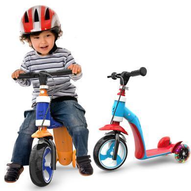 英莱儿 1-2-3岁儿童滑板车可坐小孩宝宝滑步车多功能三轮闪光溜溜滑滑车 lhwjc32