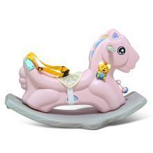 儿童音乐摇摇马1-2-3周岁宝宝婴儿生日礼物木马塑料玩具 新款小马双用