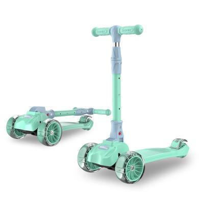 巨森 儿童滑板车1-2-3-6-12岁三合一可坐溜溜车女孩男宝宝小孩 折叠款