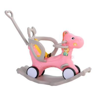 儿童摇马 带小餐桌摇椅两用带音乐多功能小推车婴儿塑料玩具宝宝木马摇摇马