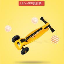 lecoco樂卡兒童滑板車四輪閃光滑滑車3-6-12歲寶寶踏板車男孩女孩-LEOMINI折疊款