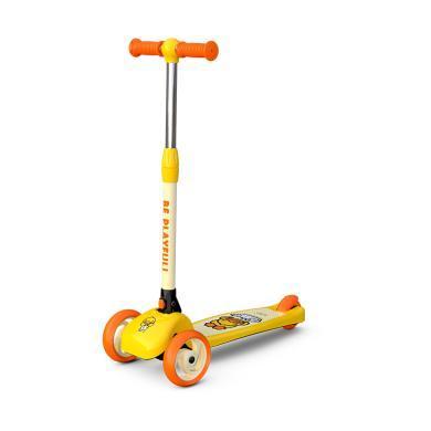 樂的B.duck小黃鴨兒童三輪滑板車男女寶寶溜溜車折疊滑滑踏板車1010款