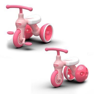 樂的 兩用兒童滑步三輪車 男女孩童車自行車2-3-5歲寶寶腳踏單車