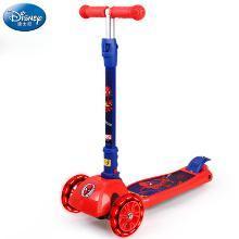 迪士尼正版滑板车儿童3-6岁两2四轮宝宝溜溜滑滑车闪光小孩踏板车蜘蛛侠