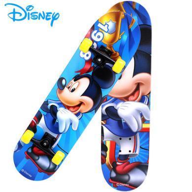 迪士尼正版四輪滑板雙翹公路刷街兒童小孩青少年代步車初學者街刷米奇