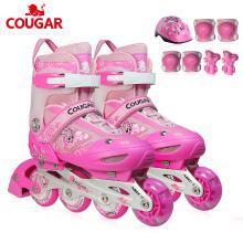 新款兒童全套裝前輪閃光可調直排輪滑鞋鞋男女小牛貝貝 MZS828