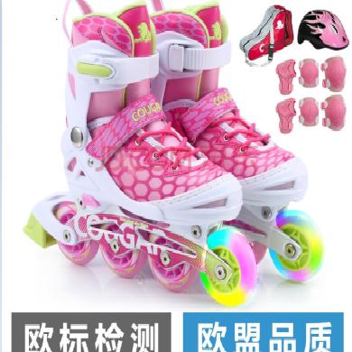 美洲獅美洲獅溜冰鞋兒童 歐盟品質 閃光輪滑鞋男女 滑冰旱冰鞋成人溜冰鞋兒童輪滑鞋可配套裝初學者男女