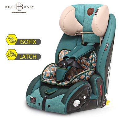 bestbaby兒童安全座椅汽車用嬰兒車載坐椅9個月-12歲isofix硬接口LB-526