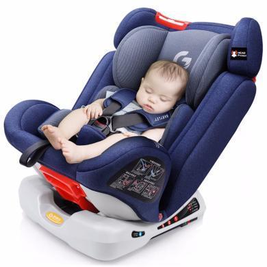 英萊兒 汽車兒童安全座椅嬰兒可躺臥0-12歲雙向安裝側面防護增寬增大aqzy2