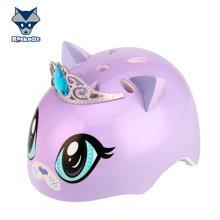 美国raskullz莱斯狐3D紫色kitty儿童自行车骑行溜冰轮滑滑板护具 头盔-小码2-7岁