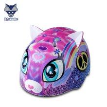 美国raskullz莱斯狐彩虹心型kitty男女儿童头盔 宝宝 轮滑滑板自行车护具-小码2-7岁