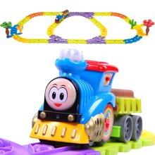 贝恩施 中型积木式轨道火车电动音乐套装益智儿童玩具