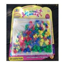 聚优信 2015 JYX-014新款智力美术魔法拼盘儿童早教益智塑料拼图3岁智力宝宝拼插玩具