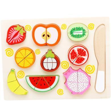兒童水果切切看水果認知 過家家玩具拼圖拼版益智