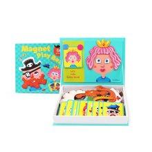 美乐 儿童磁贴拼图玩具磁性磁力拼图 益智玩具拼图礼品六一儿童