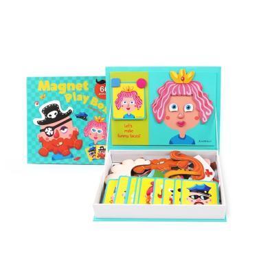 美樂 兒童磁貼拼圖玩具磁性磁力拼圖 益智玩具拼圖