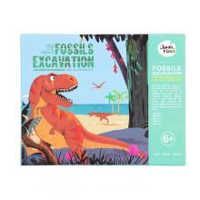 美乐 儿童化石挖掘恐龙考古 霸王龙骨架DIY手工拼装化石玩具模型
