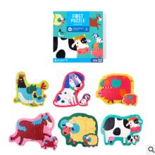 美乐纸质儿童拼图男孩女孩益智平面大块拼图宝宝幼儿早教玩具