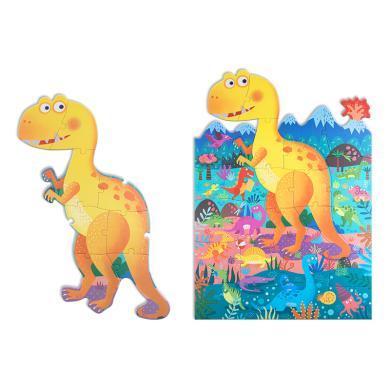 美樂 兒童拼圖安全大塊拼板 幼兒早教益智恐龍玩具深海異形積木拼圖禮盒