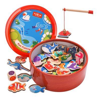 釣魚玩具磁性套裝嬰兒童1-3周歲2半寶寶幼兒益智力小孩男孩子女孩