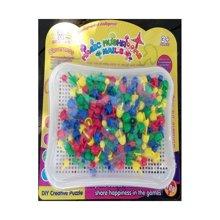 聚优信 2015 JYX-015新款智力美术魔法拼盘儿童早教益智塑料拼图3岁智力宝宝拼插玩具