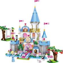 儿童拼接玩具兼容女孩益智拼装组装积木玩具灰姑娘的浪漫城堡TTL79279