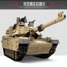 儿童益智拼装玩具艾布拉姆斯主战坦克1变2积木军事系列男孩MC10000