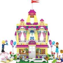 我的世界积木儿童拼装玩具安娜公主的冰雪城堡将TTL37007