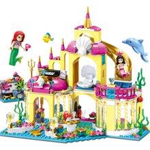 女孩益智拼装积木玩具爱丽儿公主的海底宫殿TTL79278