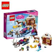 乐高迪士尼系列 41066安娜与克斯托夫的雪橇探险 LEGO 积木儿童玩具