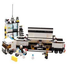 儿童DIY玩具警察系列行动指挥车场景类 拼装百变小颗粒儿童积木玩具MC6727
