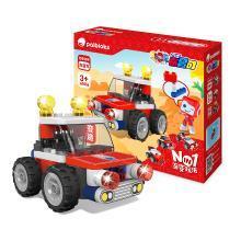 葡萄科技 百变布鲁可 迷你积木车玩具 拼装大颗粒 益智拼插积木 -迷你吉普车