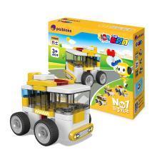葡萄科技 百变布鲁可 迷你积木车玩具 拼装大颗粒 益智拼插积木- 迷你巴士