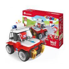 葡萄科技 百变布鲁可之布布警车系列 拼装积木玩具  61021布布百变警车 (纯拼搭款)