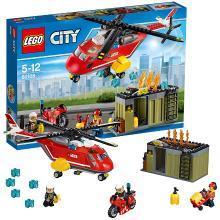 乐高城市组 60108 消防直升机组合 LEGO City 积木玩具趣味