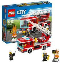 乐高城市组 60107 云梯消防车 LEGO City 儿童男孩积木玩具