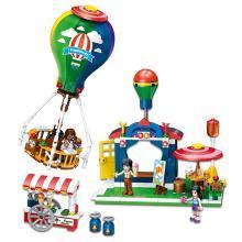 儿童拼接积木益智早教拼装玩具热气球旅行奇趣乐园拼插积木DIY玩具TTL1108