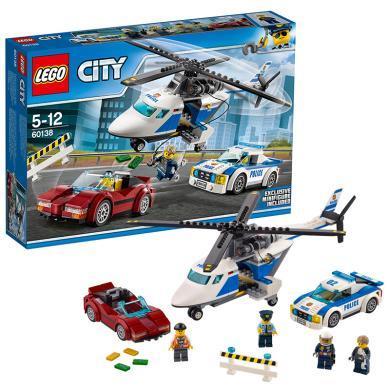 樂高城市組 60138 高速追捕 LEGO 兒童男孩積木玩具