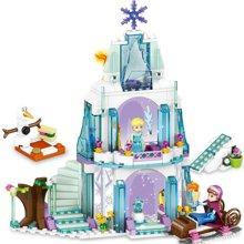 儿童益智玩具拼接积木DIY冰雪奇缘艾莎公主城堡拼装女孩积木玩具LT79168